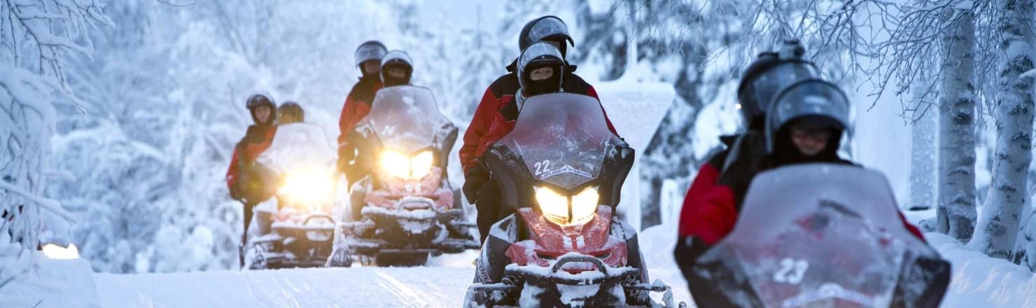 snowmobile 1 aspect ratio 1480x440 1480x440 - Lapland Safaris