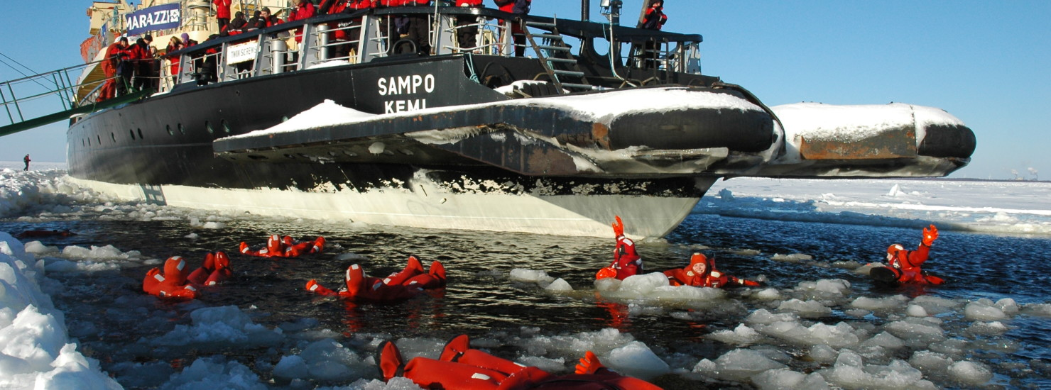 Ice floating experience in Icebreaker Sampo